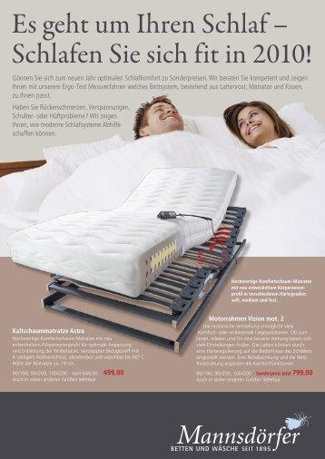 Es geht um Ihren Schlaf – Schlafen Sie sich fit in 2010!