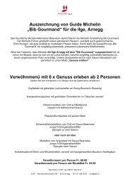 """Auszeichnung von Guide Michelin """"Bib Gourmand"""" für die Ilge, Arnegg"""