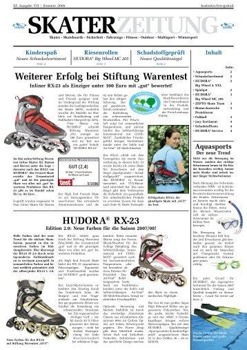 Weiterer Erfolg bei Stiftung Warentest HUDORA® RX-23