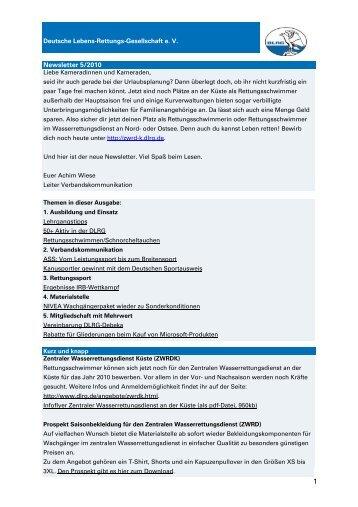 Newsletter5-10 - Newsletter - DLRG