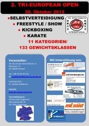 2. TKI-EUROPEAN OPEN - TKI Tai Jitsu Karate International
