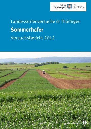 Landessortenversuche in Thüringen - Sommerhafer ... - TLL