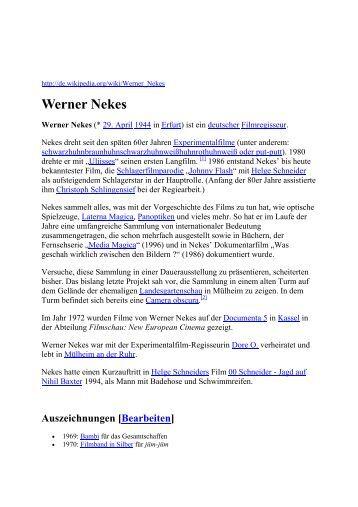 Werner Nekes - Art-in-society.de