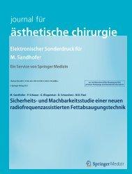 ästhetische chirurgie - Dr. Sandhofer
