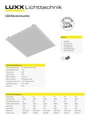 LED-Deckenleuchte von LUXX Lichttechnik - Luxx Lichttechnik GmbH
