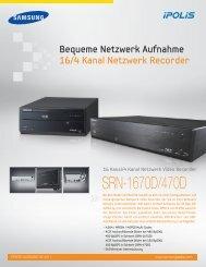 SRN-1670D/470D - Samsung Techwin UK