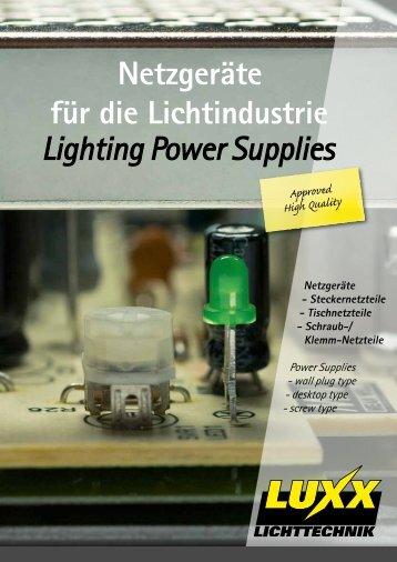 Netzgeräte für die Lichtindustrie Lighting Power Supplies - Luxx ...