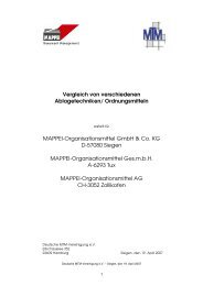 Vergleich von verschiedenen Ablagetechniken ... - Mappei