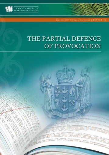 the paRtial DefeNce of pRovocatioN - Law Commission