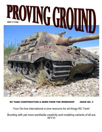 Your On-line international e-zine resource for all ... - RC Tank HQ