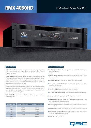 RMX 4050HD Datenblatt - QSC Audio Products