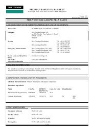 PRODUCT SAFETY DATA SHEET MOLYKOTE(R) G-RAPID PLUS ...