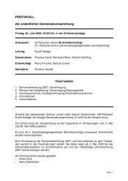 Gemeindeversammlung vom 06.06.2008 - Iffwil