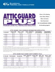 attic guard® plus coverage information - Guardian Building Products