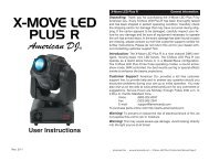 American DJ Xmove LED Plus R Manual - American Musical Supply
