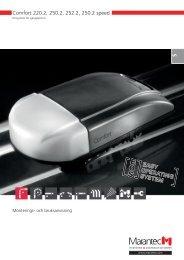Comfort 220.2, 250.2, 252.2, 250.2 speed - Marantec Antriebs