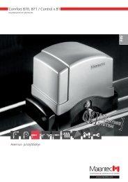 Comfort 870, 871 / Control x.81 - Marantec Antriebs