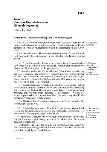 Gemeindegesetz - Stadt Illnau-Effretikon