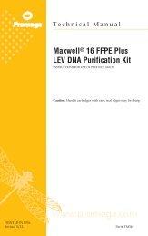 Maxwell(R) 16 FFPE Plus LEV DNA Purification Kit ... - Promega