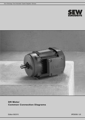 sew eurodrive de magazines dr motor common connection diagrams sew eurodrive
