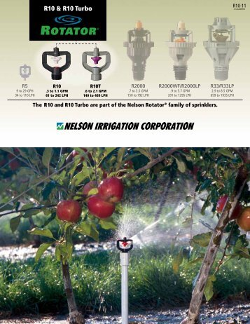 R10 & R10 Turbo - Nelson Irrigation