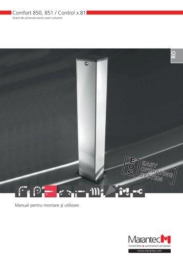 Comfort 850, 851 / Control x.81 - Marantec Antriebs
