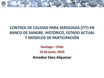 CONTROL DE CALIDAD PARA SEROLOGÍA (ITT) EN BANCO DE ...