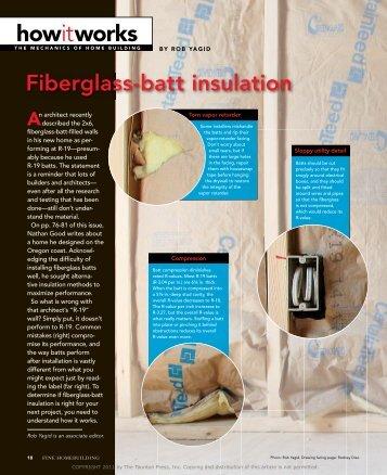 Fiberglass-batt insulation - reFIT