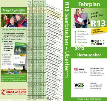 R13 Saarbrücken – Überherrn - VGS-Online