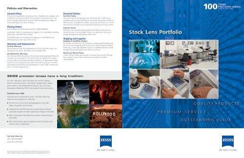 Stock Lens Portfolio PDF - Carl Zeiss Vision
