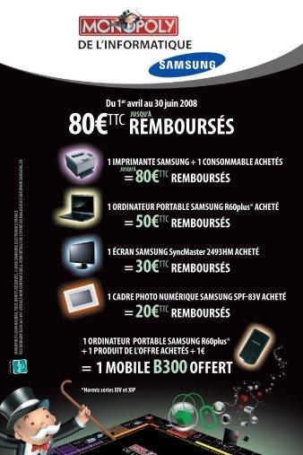 80€ttc remboUrSéS - Rue du Commerce