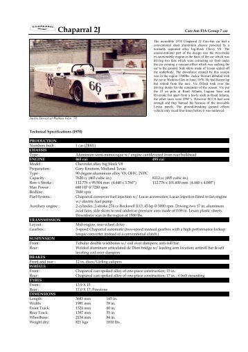 70 Chaparral 2J - Motorsports Almanac