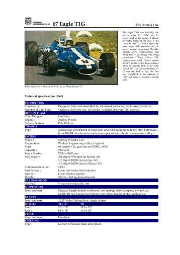 67 Eagle T1G - Motorsports Almanac