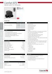 Comfort 870 - Marantec