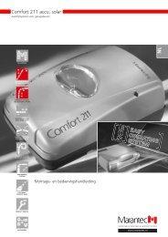 Comfort 211 accu, solar - Marantec Antriebs