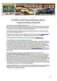 Newsletter%20# 7 - October 2009 - NZ Festival of Motor Racing