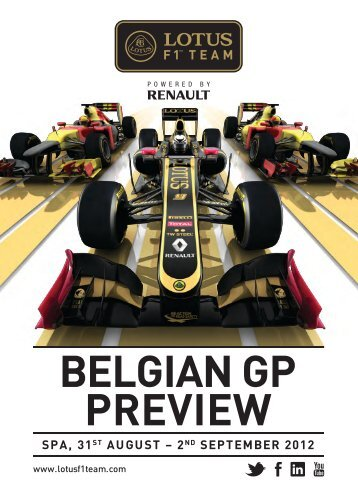 belgian gp preview spa, 31st august - Lotus F1 Team