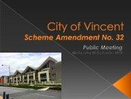 City of Vincent Scheme Amendment No. 32