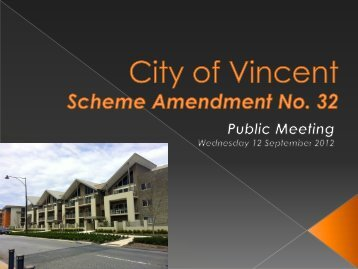 City of Vincent Scheme Amendment No. 32