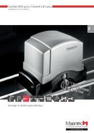 Comfort 870 accu / Control x.81 accu - Marantec