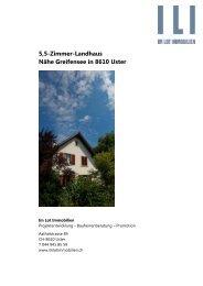 5,5-Zimmer-Landhaus Nähe Greifensee in 8610 ... - Im Lot Immobilien