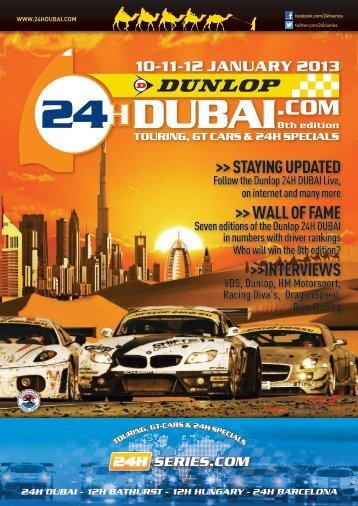 Dunlop 24H Dubai 2013 magazine in PDF