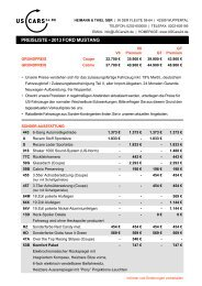 Preisliste Privat, 2013 Mustang - Heimann & Thiel GbR