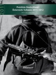 Preisliste De / At / CH - Blaser Jagdwaffen