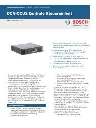 DCN‑CCU2 Zentrale Steuereinheit - Bosch Security Systems