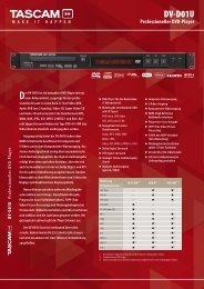 Der DV-D01U ist ein kompakter DVD-Player mit nur - Tascam