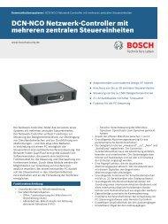 DCN‑NCO Netzwerk-Controller mit - Bosch Security Systems