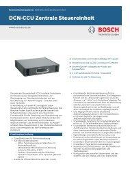 DCN‑CCU Zentrale Steuereinheit - Bosch Security Systems