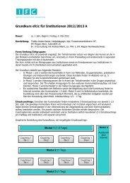 Grundkurs für Institutionen 2011/12 A - IFC