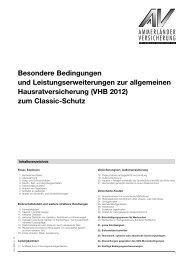 Besondere Bedingungen Classic - Ammerländer Versicherung